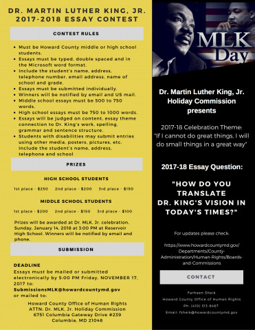 dr martin luther king jr essay student contest  the deadline has been extended until 8 at 5 00 p m click here for more information including contest rules and click here for a flier about this